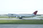 しかばねさんが、那覇空港で撮影した日本航空 747-346の航空フォト(写真)
