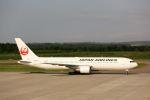 にしやんさんが、帯広空港で撮影した日本航空 767-346/ERの航空フォト(写真)