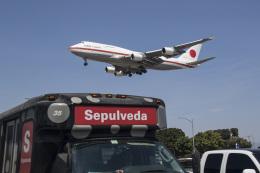 LAX Spotterさんが、ロサンゼルス国際空港で撮影した航空自衛隊 747-47Cの航空フォト(写真)