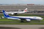スポット110さんが、羽田空港で撮影した全日空 777-281の航空フォト(写真)