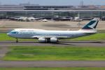 こだしさんが、羽田空港で撮影したキャセイパシフィック航空 747-467の航空フォト(写真)