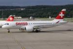 kinsanさんが、チューリッヒ空港で撮影したスイスインターナショナルエアラインズ BD-500-1A10 CSeries CS100の航空フォト(写真)