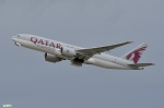 妄想竹さんが、香港国際空港で撮影したカタール航空カーゴ 777-FDZの航空フォト(写真)