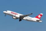 TRAVAIRさんが、チューリッヒ空港で撮影したスイスインターナショナルエアラインズ BD-500-1A10 CSeries CS100の航空フォト(写真)