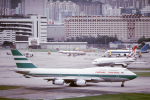 臨時特急7032Mさんが、啓徳空港で撮影したキャセイパシフィック航空 747-467の航空フォト(写真)