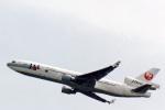 菊池 正人さんが、フランクフルト国際空港で撮影した日本航空 MD-11の航空フォト(写真)