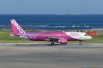 Cスマイルさんが、那覇空港で撮影したピーチ A320-214の航空フォト(写真)