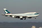 えすてるさんが、新千歳空港で撮影したキャセイパシフィック航空 747-467の航空フォト(写真)