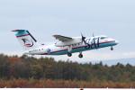えすてるさんが、新千歳空港で撮影したサハリン航空 DHC-8-200Q Dash 8の航空フォト(写真)