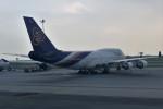 こじゆきさんが、スワンナプーム国際空港で撮影したタイ国際航空 747-4D7の航空フォト(写真)