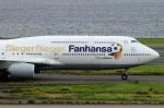 ウッディーさんが、羽田空港で撮影したルフトハンザドイツ航空 747-830の航空フォト(写真)
