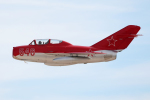 AkiChup0nさんが、ネリス空軍基地で撮影したアメリカ個人所有 MiG-15UTIの航空フォト(写真)