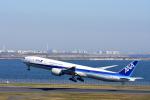 ひこ☆さんが、羽田空港で撮影した全日空 777-381/ERの航空フォト(写真)