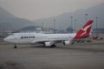 JA8037さんが、香港国際空港で撮影したカンタス航空 747-438/ERの航空フォト(写真)