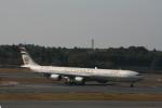 hachiさんが、成田国際空港で撮影したエティハド航空 A340-642Xの航空フォト(写真)
