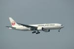 蒲田賢二さんが、香港国際空港で撮影した日本航空 777-246/ERの航空フォト(写真)