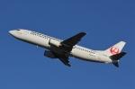 だいまる。さんが、岡山空港で撮影した日本トランスオーシャン航空 737-4Q3の航空フォト(写真)