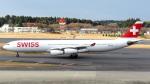 誘喜さんが、成田国際空港で撮影したスイスインターナショナルエアラインズ A340-313Xの航空フォト(写真)