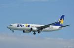 やまちゃんKさんが、那覇空港で撮影したスカイマーク 737-8Q8の航空フォト(写真)