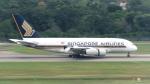 誘喜さんが、シンガポール・チャンギ国際空港で撮影したシンガポール航空 A380-841の航空フォト(写真)
