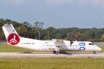 菊池 正人さんが、ジュネーヴ・コアントラン国際空港で撮影したバブー DHC-8-315 Dash 8の航空フォト(写真)