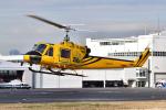 はるかのパパさんが、東京ヘリポートで撮影したアカギヘリコプター 204B-2(FujiBell)の航空フォト(写真)
