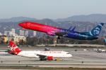 LAX Spotterさんが、ロサンゼルス国際空港で撮影したアラスカ航空 737-990/ERの航空フォト(写真)