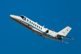 ヶローさんが、名古屋飛行場で撮影した朝日新聞社 560 Citation Encoreの航空フォト(写真)