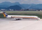 プルシアンブルーさんが、山形空港で撮影した日本エアシステム MD-81 (DC-9-81)の航空フォト(写真)