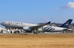 JA882Aさんが、松山空港で撮影したガルーダ・インドネシア航空 A330-341の航空フォト(写真)