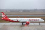 安芸あすかさんが、ベルリン・テーゲル空港で撮影したエア・ベルリン A321-211の航空フォト(写真)