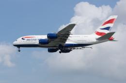 かずまっくすさんが、シンガポール・チャンギ国際空港で撮影したブリティッシュ・エアウェイズ A380-841の航空フォト(写真)
