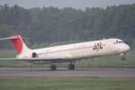プルシアンブルーさんが、花巻空港で撮影した日本航空 MD-81 (DC-9-81)の航空フォト(写真)