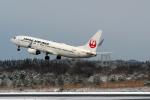 Polarisさんが、秋田空港で撮影した日本航空 737-846の航空フォト(写真)