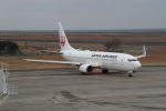 はるさんが、山口宇部空港で撮影した日本航空 737-846の航空フォト(写真)