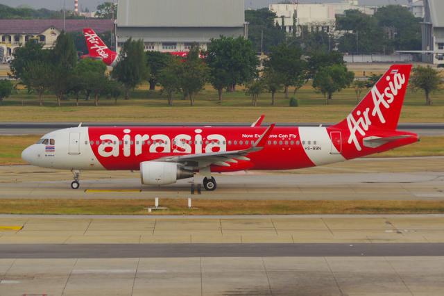 タイ・エアアジア Airbus A320-200 HS-BBN ドンムアン空港  航空フォト   by PASSENGERさん