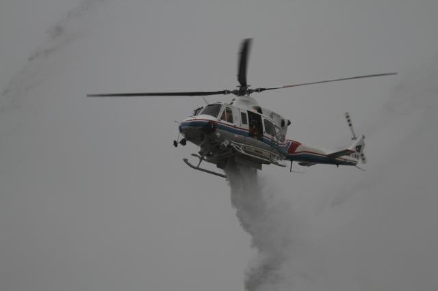 三重県防災航空隊 Bell 412 JA6703 四日市ドーム  航空フォト | by go44さん