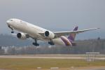 安芸あすかさんが、チューリッヒ空港で撮影したタイ国際航空 777-3D7/ERの航空フォト(写真)