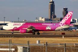 ばっきーさんが、成田国際空港で撮影したピーチ A320-214の航空フォト(写真)