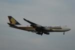 よしポンさんが、成田国際空港で撮影したシンガポール航空カーゴ 747-412F/SCDの航空フォト(写真)