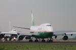 turt@かめちゃんさんが、台湾桃園国際空港で撮影したエバー航空 747-45Eの航空フォト(写真)
