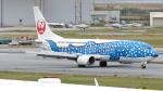 誘喜さんが、那覇空港で撮影した日本トランスオーシャン航空 737-4Q3の航空フォト(写真)