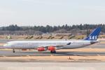 岡崎美合さんが、成田国際空港で撮影したスカンジナビア航空 A340-313Xの航空フォト(写真)