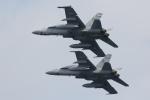 おふろうどさんが、岩国空港で撮影したアメリカ海兵隊 F/A-18D Hornetの航空フォト(写真)
