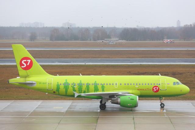 S7航空 Airbus A319 VP-BHP ベルリンテーゲ