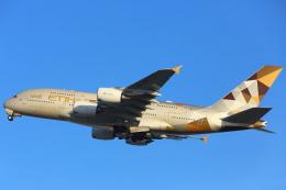 安芸あすかさんが、ロンドン・ヒースロー空港で撮影したエティハド航空 A380-861の航空フォト(写真)