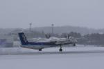 makorigeさんが、函館空港で撮影したANAウイングス DHC-8-402Q Dash 8の航空フォト(写真)