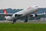 kansai-spotterさんが、チューリッヒ空港で撮影したスイスインターナショナルエアラインズ A330-343Xの航空フォト(写真)
