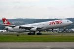 kansai-spotterさんが、チューリッヒ空港で撮影したスイスインターナショナルエアラインズ A340-313Xの航空フォト(写真)