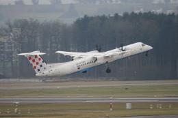 pringlesさんが、チューリッヒ空港で撮影したクロアチア航空 DHC-8-402Q Dash 8の航空フォト(写真)